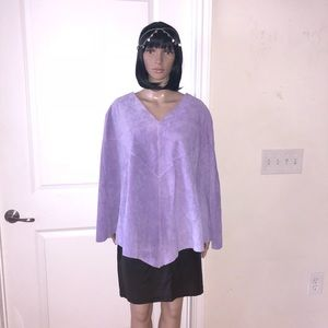 Dialogue- 100 % leather lilac cover-up